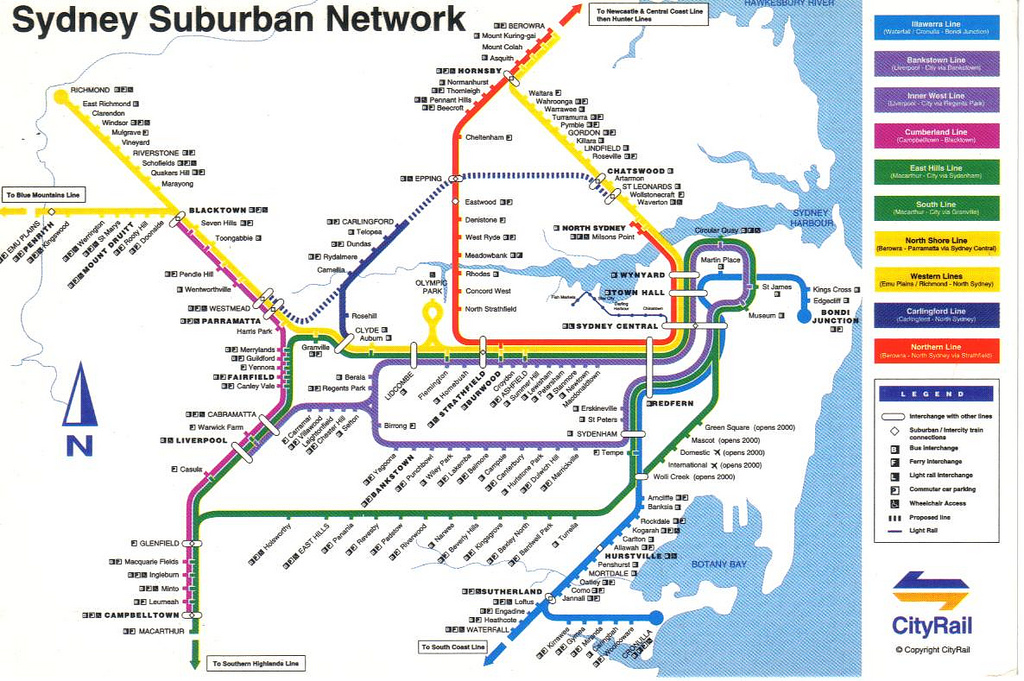 Sydney subway map
